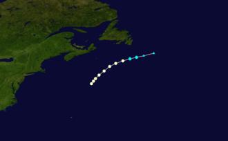 1876 Atlantic hurricane season - Image: 1876 Atlantic hurricane 1 track