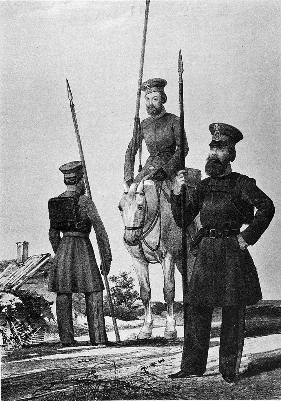 18 2533 Book illustrations of Historical description of the clothes and weapons of Russian troops