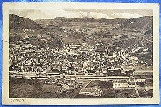 Ebingen - Image: 1917 Luftaufnahme Ebingen (Albstadt)