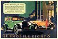 1927 Magazine ad for Hupmobile Eight (3377576222).jpg