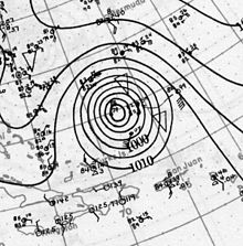 1927 Nova Scotia hurricane analysis 22 Aug 1927.jpg