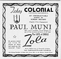 1937 - Colonial Theater Ad - 1 Oct MC - Allentown PA.jpg