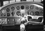 1950. Cessna 195 instrument flight panel. Portland, OR. (33139496434).jpg