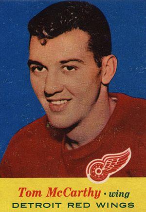Tom McCarthy (ice hockey, born 1934) - Image: 1957 Topps Tom Mc Carthy