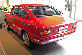 1968 Sprinter fast-back , TOYOTA COROLLA INTERNATIONAL SALES LEADER.
