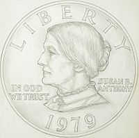 Susan B  Anthony dollar - Wikipedia