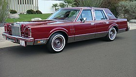 lincoln continental mark vi wikipedia rh en wikipedia org Lincoln Town Car Parts Diagram 1995 Lincoln Town Car Engine Diagram