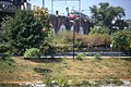 198L02180890 Stadtbahn, Blick vom Donaukanal Ufer 20. Bezirk, Stadtbahn (U6) Trasse Richtung Friedensbrücke, Typ E6 Müllverbrennung Spittelau.jpg