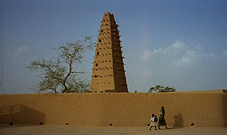 Sudano-Sahelian architecture - Agadez Grand Mosque, Niger (Fortress style).