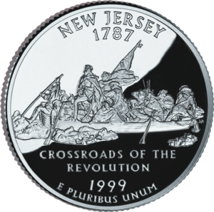 Washington Crossing the Delaware - The painting depicted on the New Jersey state quarter.