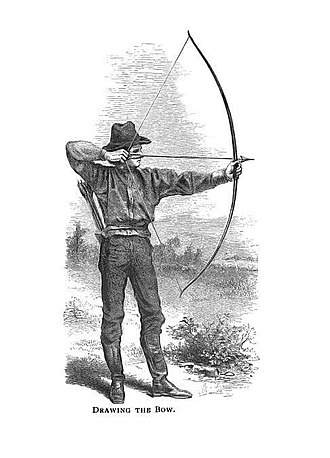 Bow and arrow - Drawing a bow, from a 1908 archery manual