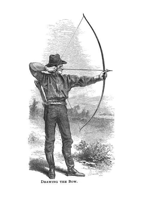 19th century knowledge archery drawing the bow