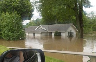 June 2008 Midwest floods - Image: 2008 Indiana Flood