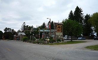 Cross Village Township, Michigan - Legs Inn, a landmark restaurant and inn in Cross Village