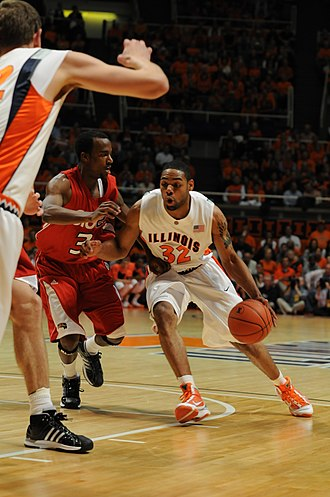 Demetri McCamey - McCamey driving to the basket (2009-11-13)