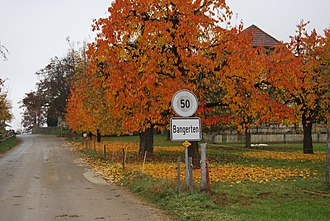 Bangerten - Entrance to Bangerten village