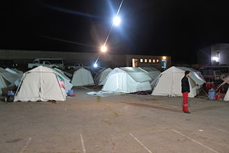 2012 East Azerbaijan earthquakes - Temporary accommodation tents