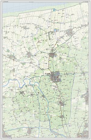 Winsum - Dutch Topographic map of Winsum, July 2013