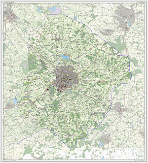 Winterswijk - Topographic map of the municipality of Winterswijk, 2013