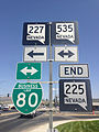 2014-06-09 15 22 52 Signs at the south end of Mountain City Highway (Nevada State Route 225) in Elko, Nevada.JPG