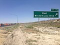 2014-06-12 12 50 36 Sign for Exit 173 along eastbound Interstate 80 and northbound U.S. Route 95 in Winnemucca, Nevada.JPG