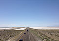 2014-07-05 14 44 11 View west from the overpass at Exit 41 along Interstate 80 in Utah in the Great Salt Lake Desert.JPG