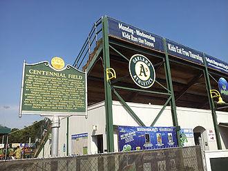 Vermont Lake Monsters - Third base side bleachers at Centennial Field