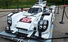 The Front View Of Porsche 919 Hybrid On Display At 2017 Concours D Elegance