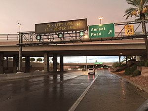 McCarran Airport Connector - View northbound along SR 171 at Sunset Road