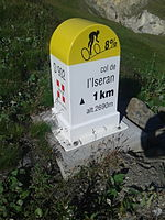 2015 Mountain pass cycling milestone - Iseran from Bonneval-sur-Arc.jpg