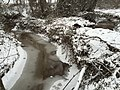 2016-02-15 08 39 43 View east up a snowy Cain Branch of Cub Run in the Armfield Farm section of Chantilly, Fairfax County, Virginia.jpg