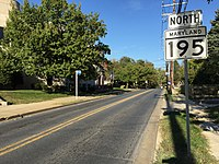 2016-10-18 16 28 59 View north along Maryland State Route 195 (Carroll Avenue) at Flower Avenue in Takoma Park, Montgomery County, Maryland.jpg