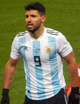 Sergio Agüero - Agüero with Argentina in November 2017