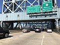 2018-07-18 09 20 13 View west along Interstate 280 (Essex Freeway) just east of the William A. Stickel Memorial Bridge in East Newark, Hudson County, New Jersey.jpg