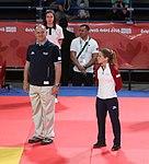 2018-10-07 Judo Girls' 44 kg at 2018 Summer Youth Olympics – Victory ceremony (Martin Rulsch) 04.jpg
