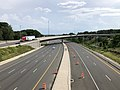 2019-07-04 16 28 49 View south along the northbound lanes of Interstate 495 (Capital Beltway) from the overpass for Interstate 66 on the edge of Idylwood and Merrifield in Fairfax County, Virginia.jpg