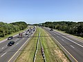 2019-07-25 09 53 29 View north along Interstate 97 (Patuxent Freeway) from the overpass for Millersville Road in Severn Crossroads, Anne Arundel County, Maryland.jpg