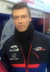 2019 Formula One tests Barcelona, Kvyat (40287126673).jpg