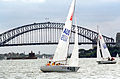 231000 - Sailing sonar Jamie Dunross Noel Robins Graeme Martin action 9 - 3b - 2000 Sydney race photo.jpg