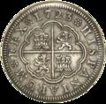 2 Reales (Plata) de Felipe V con 'ceca' de Segovia 1723.png