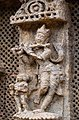 2 musicians a bansuri player and ghana player at Konark Sun Temple India.jpg