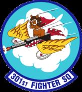 301st Fighter Squadron - AETC - Emblem
