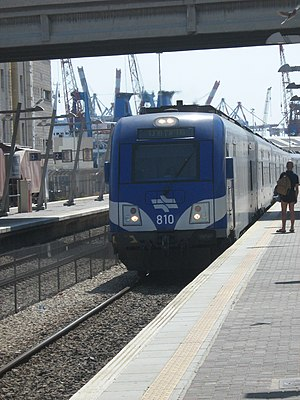 Haifa Center HaShmona railway station - Image: 304 2010 09 06 09 38 26 Haifa Central Station