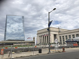 Coors Light - Advertising on the building of 30th Street station (2018)