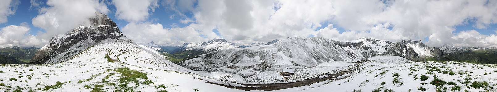 360° Hochalppass Panorama