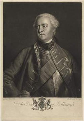 1737 English cricket season - Charles Spencer, 3rd Duke of Marlborough, was a noted patron of cricket in 1737.