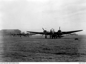 Handley Page Hampden - A RAAF Hampden of No. 455 Squadron at RAF Wigsley, Nottinghamshire, circa 1942