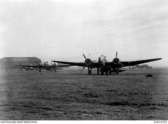 Handley Page Hampden - A RAAF Hampden of No. 455 Squadron at RAF Wigsley, Nottinghamshire, circa 1942