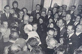 World Association for Waterborne Transport Infrastructure - PIANC congressmen meet Pope Pius XII at PIANC Congress 1953