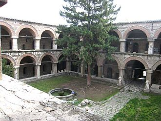 Turks in the Republic of Macedonia - The Kuršumli Han is one of many Turkish landmarks in the Old Bazaar, Skopje